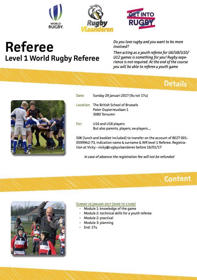 World Rugby Level 1 jeugdscheidsrechter