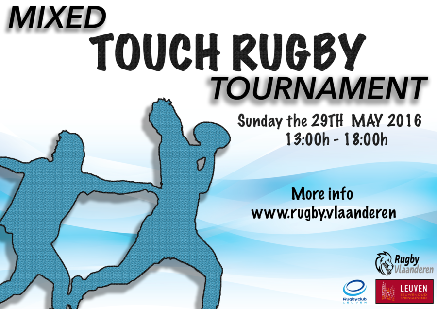 Spelregels Mixed Touch Rugby Tournament.