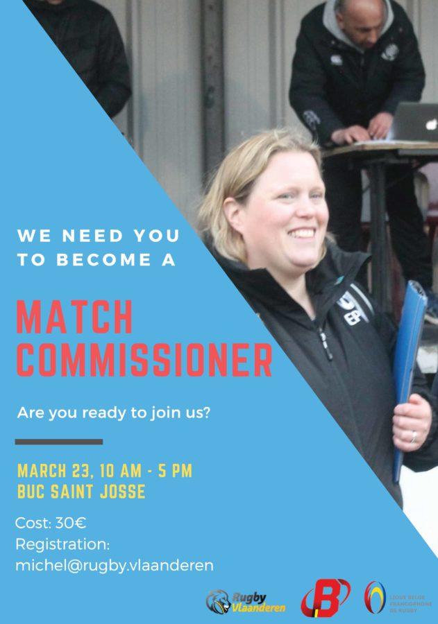 Match Commissioner cursus