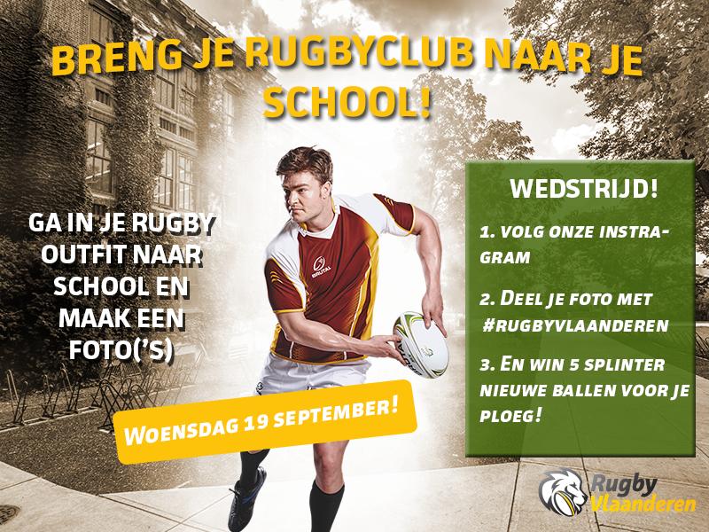 Breng je rugbyclub naar je school