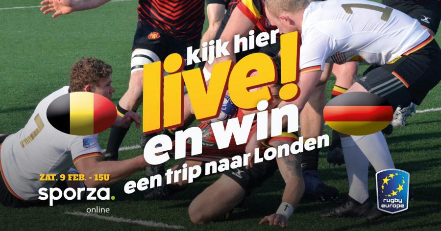 Bekijk hier live België vs Duitsland rugby en win!