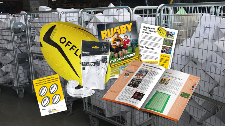 1000 startpakketten rugby op  weg naar geïnteresseerde spelers.