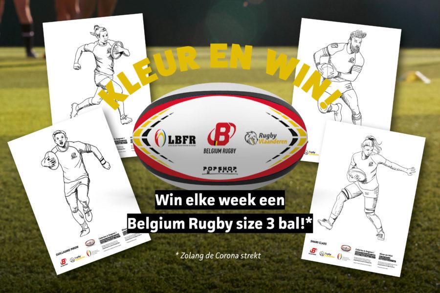 Doe mee aan de kleurwedstrijd en win een rugbybal!